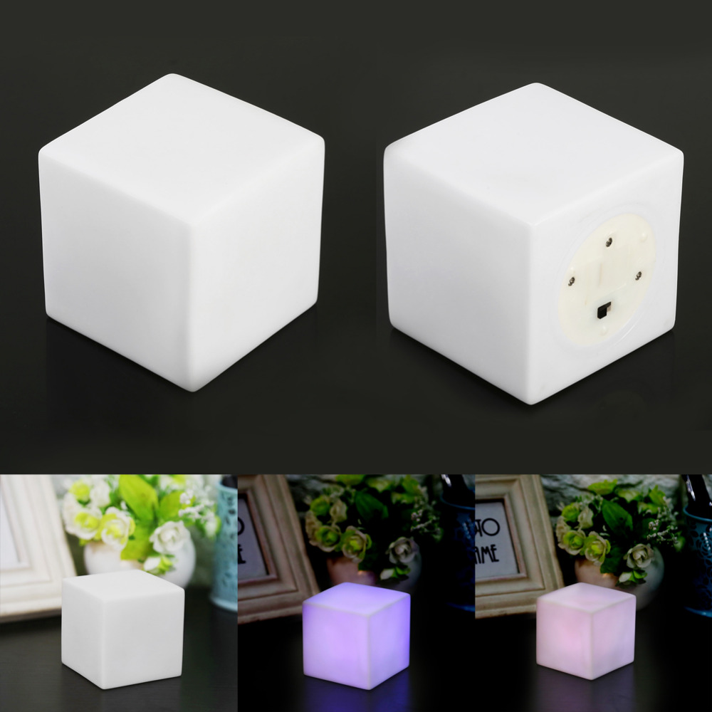 Com buy 10cm cube decorative battery operated rgb led table lamps - Cube Night Light Led Night Lamp Color Changing Mood Table Lamp Gadget Home Party Decoration Luminary