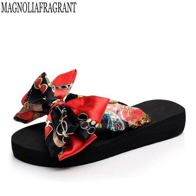 8569f6996b Non-Slip Sandálias Chinelos Femininos de verão Para As Mulheres Flip-Flop  Boemia Plataforma