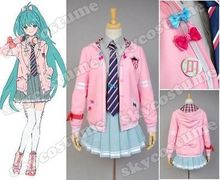 Vocaloid Project DIVA-f Miku Uniform Girls Jacket Shirt Skirt Anime Halloween Cosplay Costumes For Women Custom Made
