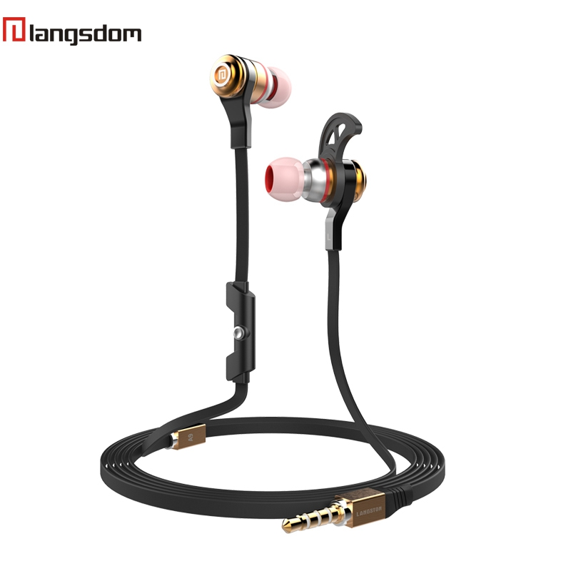 Original Langsdom A9 Earphone Sports Earphones For Phone Wired Earbuds With Microphone 3.5MM In-Ear Audifonos For Samsung iPhone original 1more triple driver in ear earphone with microphone for xiaomi mi redmi samsung mp3 earphones earbuds earpiece e1001