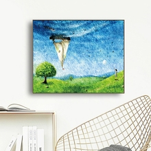 Watercolor Scenery Canvas Painting Calligraphy Poster and Prints Living Room House Wall Decor Art Home Decoration Picture