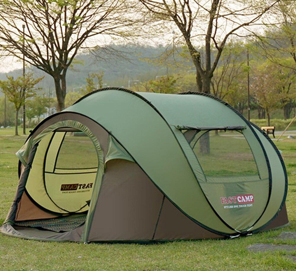 2017 la dernière super grande tente de 4 ~ 5 personnes pour éviter de construire la tente automatique vitesse ouverte tente extérieure camping plage tente