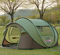 2017 the latest super large 4~5 people tent to avoid building automatic tent speed open tent outdoor camping beach tent