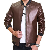 TG6181Cheap Wholesale 2016 New Han Edition Men S Fashion PU Leather Jacket In The Spring And