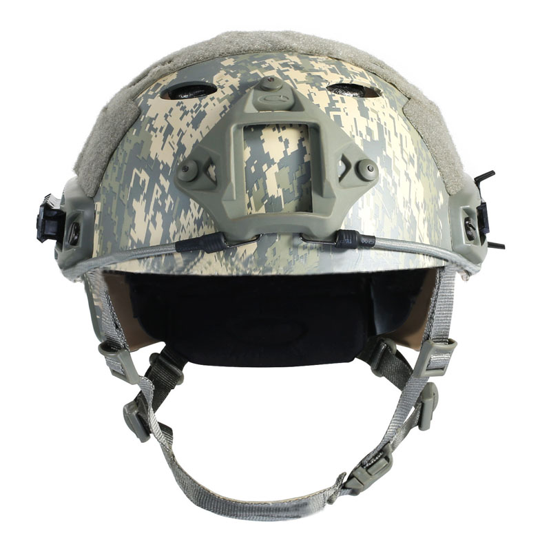FAST PJ Tactical Camouflage Helmet  Airsoft Paintball Wargame Helmet ARC Rail Adapter Hunting Accessories tactical wargame motorcycling helmet w eye protection glasses grey black size l7