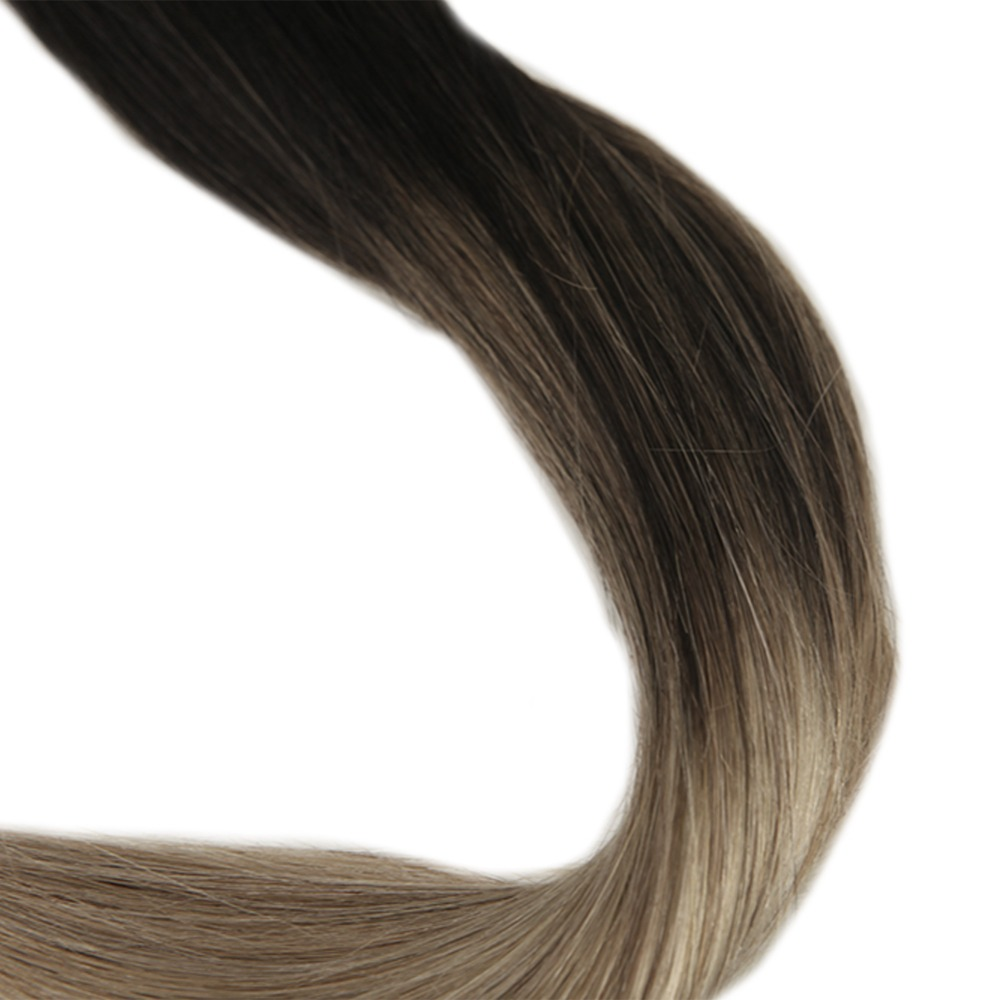 Full Shine Ombre Remy Human Hair Extension Color 1b Fading To Color