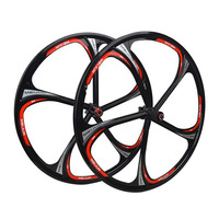 wheels 26 inches Mountain Bicycle Wheel bike rims,MTB Rim 6 spokes mountain bike wheels magnesium alloy 26 speeds