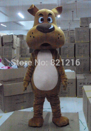 New Professional Hund Dog Mascot Costume Fancy Dress Adult Size with free shipping
