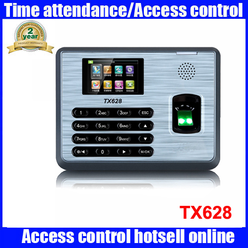 ZK TX628 3 inch color screen New TX628 TCP/IP RS232/485 biometric fingerprint time attendance recorder time clock SDK zk tx628 tcp ip fingerprint time attendance with free software zk biometric fingerprint time clock