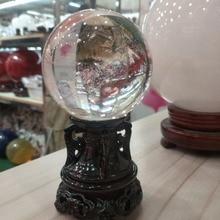 80mm Smelting crystal ball natural feng shui magic healing ball, gem + bracket.