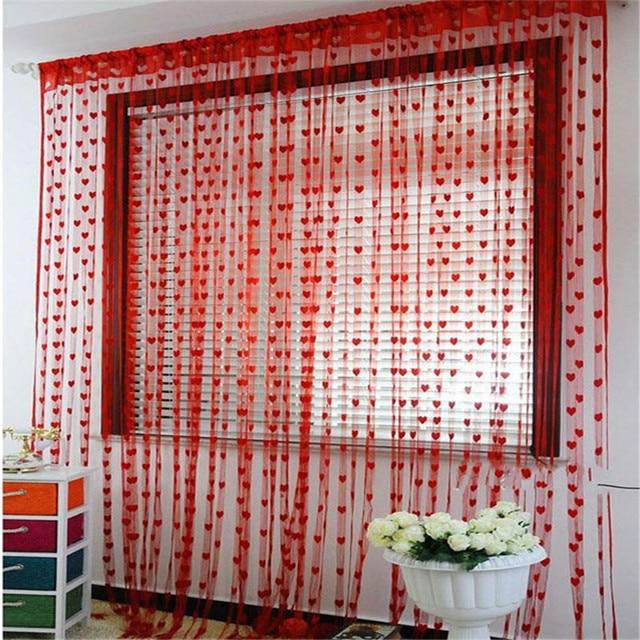 Curtain Cute Heart Line Tassel String Door Window Room Curtain ...