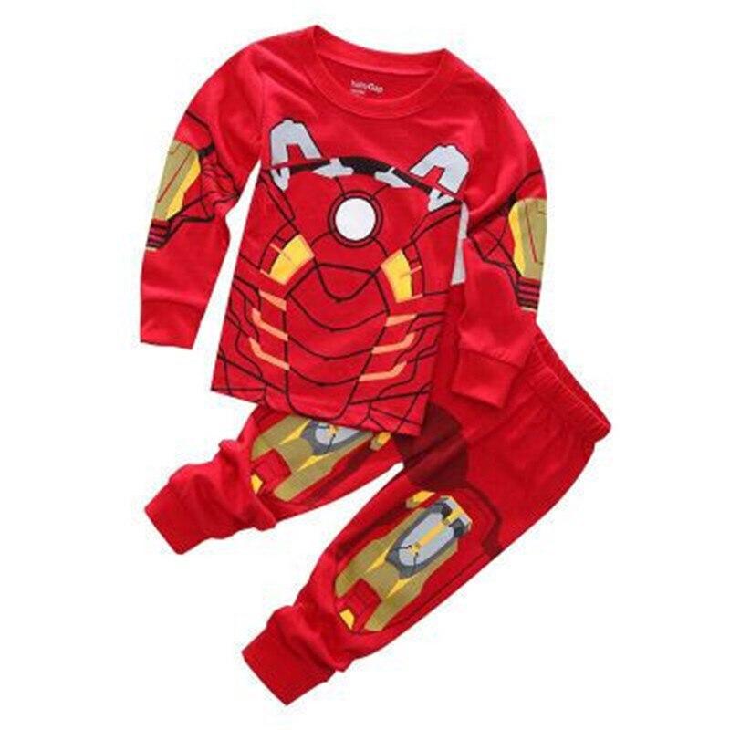 new cosplay Spiderman/iron Man Sleepwear Boys iron Man Pyjamas Kids Captain America Pajamas Sets Baby Girls Toy Story top/pants