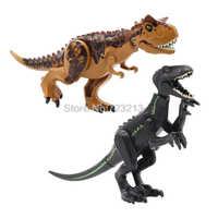 Jurassic Dinosaurier Welt Polar Bär Carnotaurus Indominus Rex T-Rex Baustein Sets Modelle Kinder Pädagogisches Spielzeug für Kinder