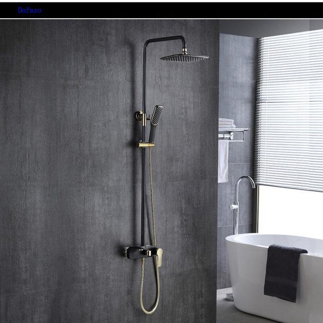 Online Shop Dofaso toilet shower kit gold shower faucet bronze white ...