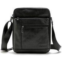 Brand 100 Genuine Leather Men S Crossbody Bag Casual Business Leather Mens Messenger Bag Vintage Men