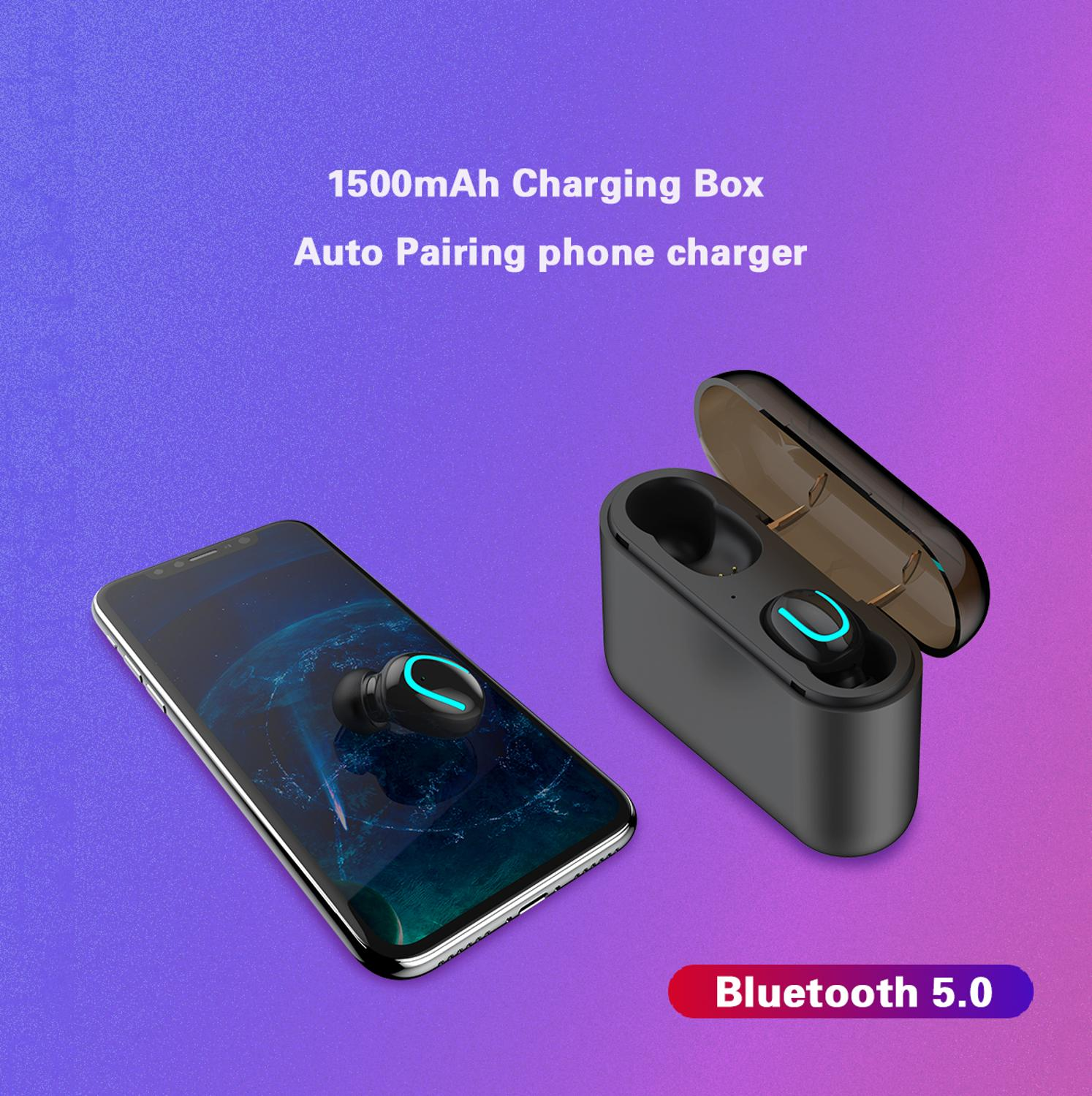 Image 3 - Dikdoc Bluetooth earphone in ear handfree HiFi top sound quality wireless earbuds mega bass 1500mAh power box TWS earhone-in Bluetooth Earphones & Headphones from Consumer Electronics
