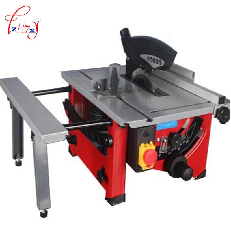 4800r/min sierra de mesa deslizante para trabajar la madera 210 mm sierra eléctrica de madera DIY JF72102 ángulo Circular de ajuste de inclinación Sierra de reconocimiento 1 pieza