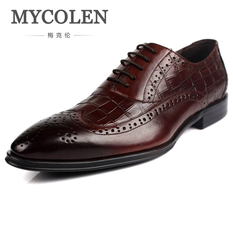 MYCOLEN Fashion Men Shoes Genuine Leather Men Dress Shoes High Quality Men's Business Gentleman Shoes Man Sapatos Social mycolen new fashion men shoes genuine leather men dress shoes high quality comfortable men s business gentleman shoes man