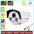 Full HD AHD 720 p 960 p 1080 P Cctv Câmera À Prova D' Água HD 2MP 1MP Câmera Analógica Cctv Câmera de Visão Noturna IR 30 Mt Para AHD DVR