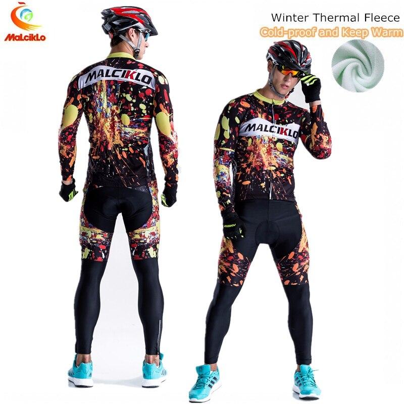 Prix pour Haute qualité pro cycling team jersey mens hiver thermique polaire ropa clismo hombre montagne bike wear maillot cyclisme clothing