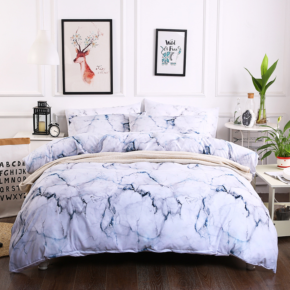 Cilected Marble Printed Single Flat Sheet 1pc Nordic Style Designed Bed Cover Sleeping Protector Home Decoration 200 230cm In From Garden