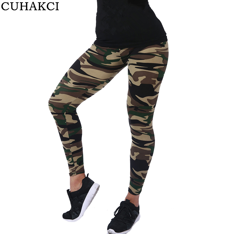 Fitness Leggings Camo: CUHAKCI 2017 Women Camouflage Leggings Fitness Military