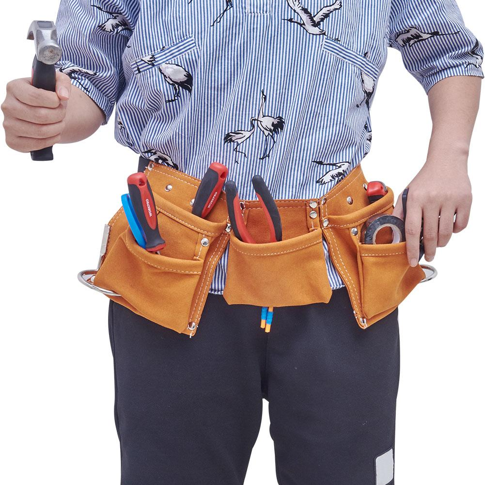 Kids Real Leather Tool Belt Child Toy Tool Pouch For Costumes Dress Up Role Play Fun Gags Toy Gift Garden Tools