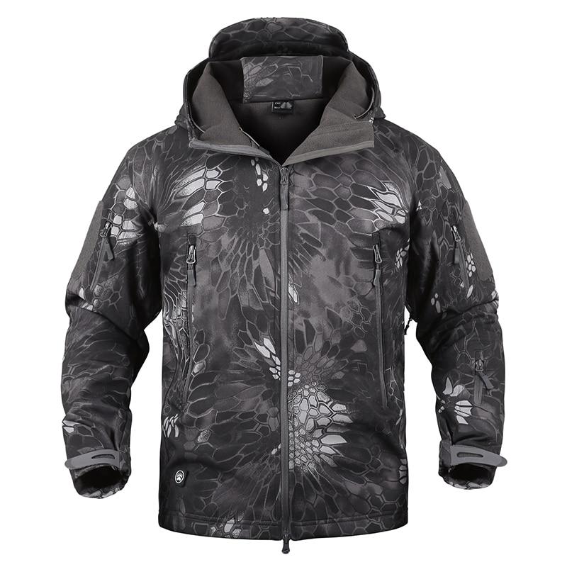 Shark Skin Military Tactical Jacket Men Softshell Waterpoof Camo Camouflage Windbreaker Army Hood Combat Jacket Male Winter Coat