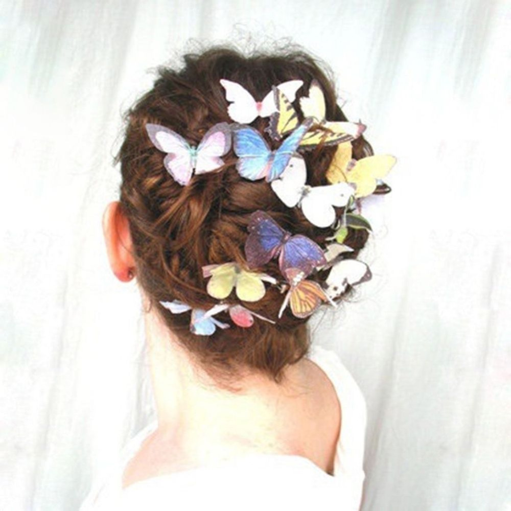 Girl's Accessories 5pcs Butterfly Flower Hair Clip Hair Claw Clamp Party Bridal Hair Pins For Party Wedding