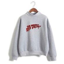 LUCKYFRIDAYF K-pop RED Velvet Print Women/Men Clothing Hot Sale Turtlenecks Women Long Sleeve Casual Sweatshirts Plus Size