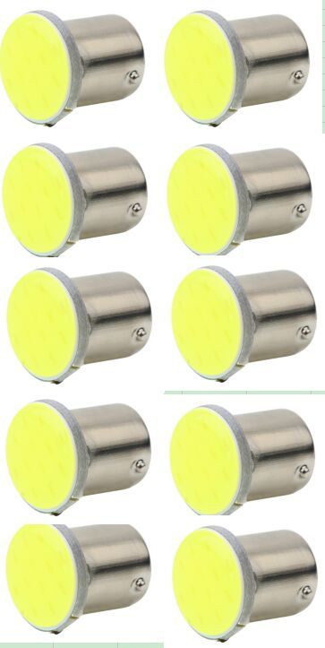 10PCS New Hot Selling 1pc White 1156 BA15S COB 12SMD LED Bulbs RV Trailer Truck Interior Backup trailer Light ...