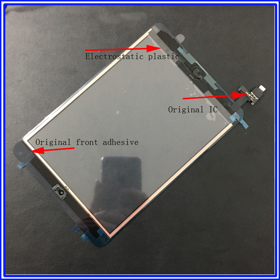 Original Tested Touch Glass For <font><b>Ipad</b></font> <font><b>Mini</b></font> 1 <font><b>Mini</b></font> 2 <font><b>A1432</b></font> A1452 A1455 A1489 Touch Screen Digitizer With IC image