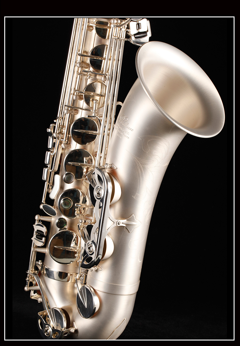 Brand Brass Musical Instrument France Rollinsax RST-X6 Bb Tenor Saxophone B Flat Unique Brushed Silver Plated Sax Free Shipping tenor saxophone instrument 54 selmer b flat saxophone tenor antique copper free shipping sound quality promotions sax