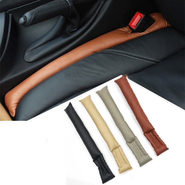 Grey Black Beige Brown Car Seat Cushion Crevice Gap Stopper PU Leather Leakproof Protector Car Seat Cover Pad