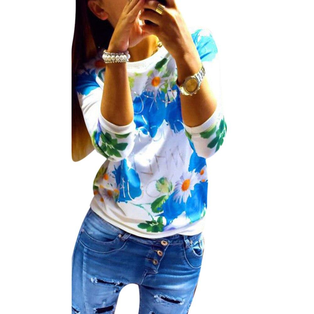HTB1E0EXKXXXXXbjXXXXq6xXFXXX8 - Autumn Women Girl Long Sleeve Floral Print T Shirts