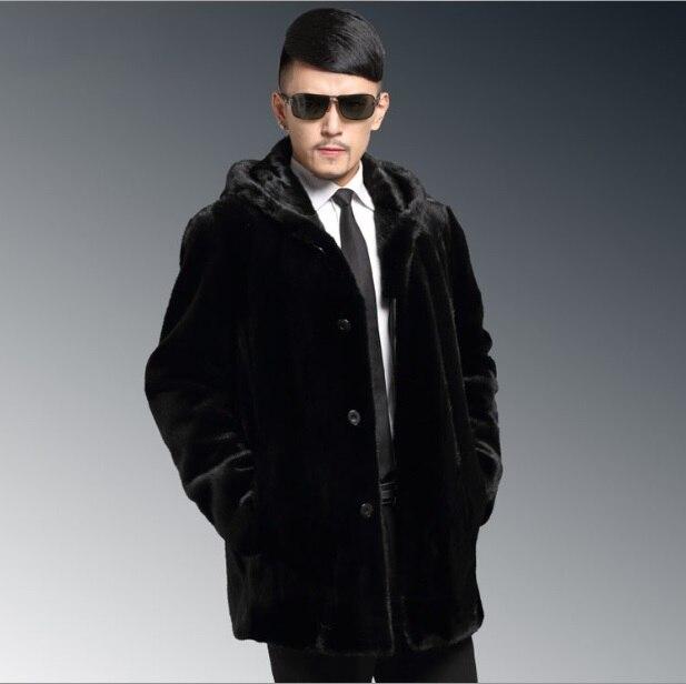 Erfinderisch 2019 Herren Winter Mit Kapuze Leder Jacke Faux Pelz Mantel Lange Hülse Nerz Warme Oberbekleidung Plus Größe Schwarz Mäntel Xl679