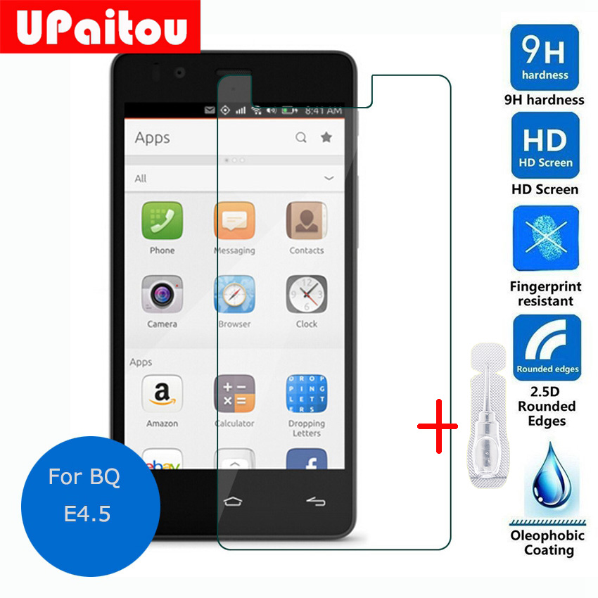 UPaitou Safety Protective Film for BQ Aquaris E4.5 Tempered glass Screen Protector on E 4.5 4G LTE Dual SIM cristal templado