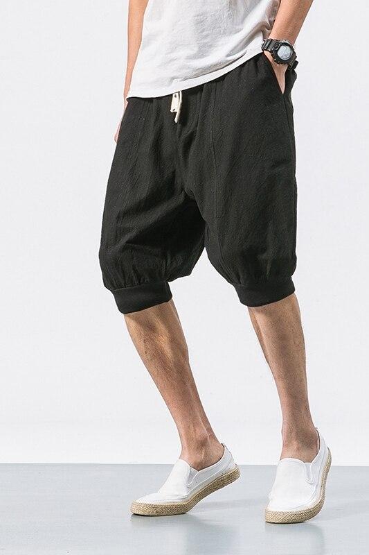 Degli Uomini 2019 Estate Modis Casual Streetwear Cotone Di Lunghezza Del Ginocchio Con Coulisse Abbigliamento Sportivo Di Compressione Di Grandi Dimensioni 5xl Shorts Uomini