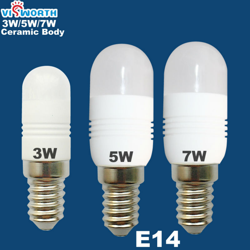 Mini Ceramic Body 3w 5w 7w Led Bulb E14 Led Lamp 110v 220v
