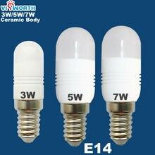цена на 3W 5W E14 LED LAMP MINI ceramic body 110V-220V-240V Ultra bright 12 SMD epistar Warm white Cold white free shipping