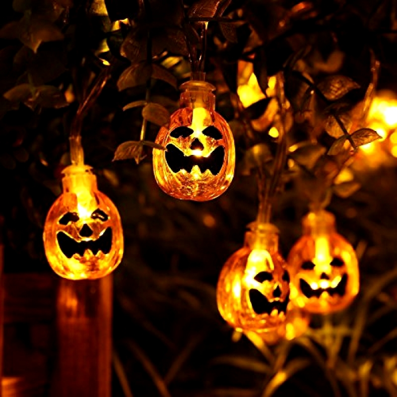 Nice Itimo Led Light Up Party Flashing Eyeball Pumpkin Skeleton Toy Gift Glow Light Soft Jelly Finger Ring Halloween Novelty Lights & Lighting