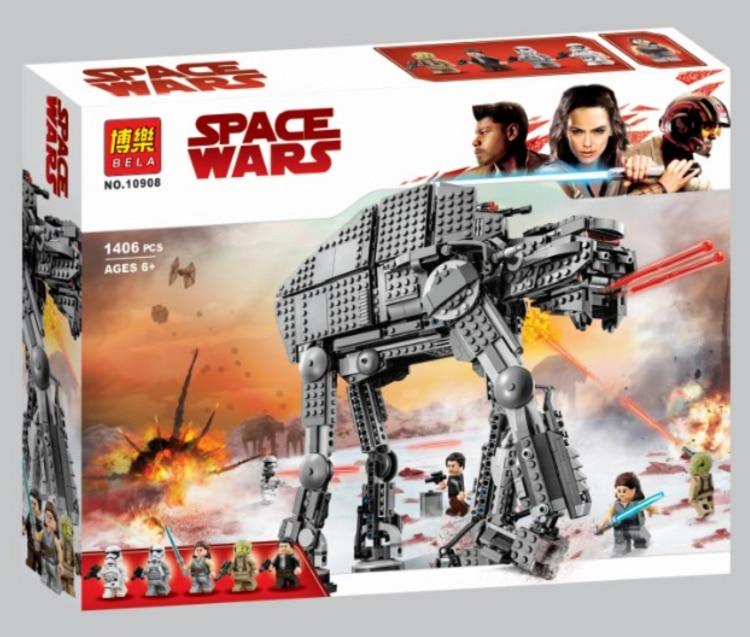 Bela 10908 Star Wars Series First Order Heavy Assault Walker Building Block 400pcs Bricks Toys