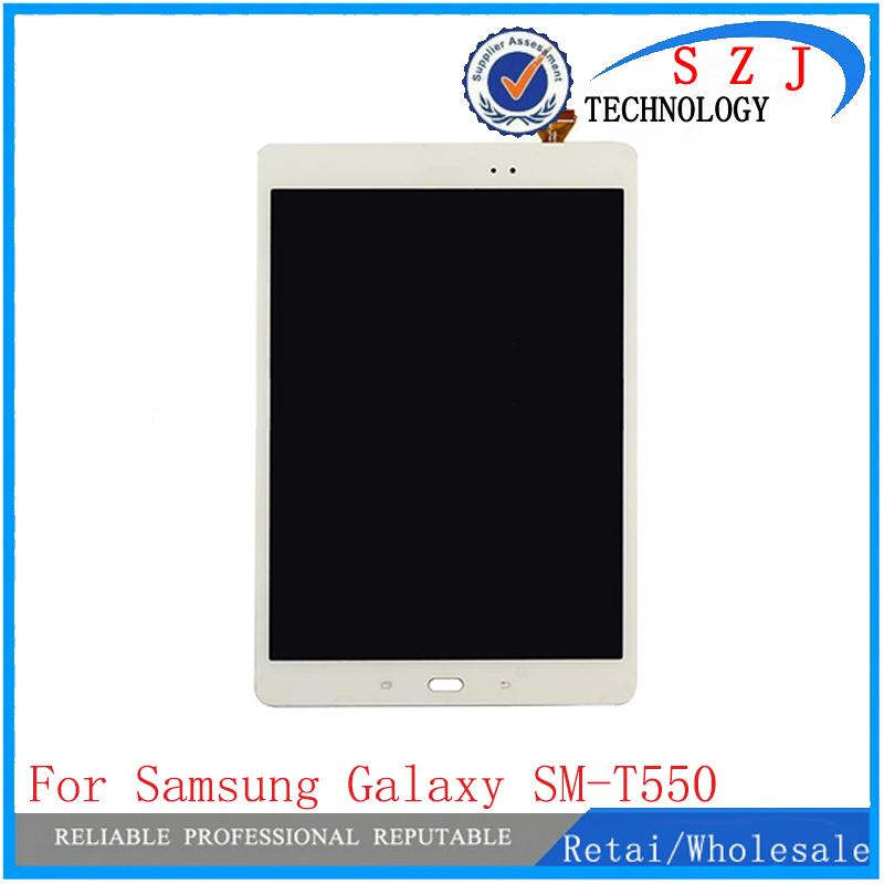 New 9.7'' inch For Samsung Galaxy Tab SM-T550 T550N T555 Touch screen Digitizer LCD Display Assembly Free Shipping new lcd screen touch digitizer assembly for samsung galaxy s4 active i9295 i537 free shipping low cost