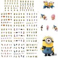 BLE1852-186211 Estilos Amarillo Minions Cartoon Nail Art Water Transfer Sticker Decal Uñas Envuelve Con Estilo para UV Gel Polaco Consejos #
