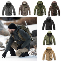 TAD Softshell Tactical Jacket Or Pants Hunting Clothes Fleece Lining Outdoor Hiking Camping Waterproof Sport Outwears Suits