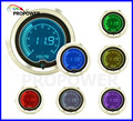 52mm 2inch LCD 7 Color Digital Volt Gauge Smoke Lens 8-18v/AUTO GAUGE