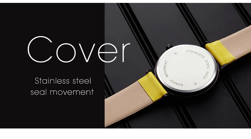 Sinobi Women Watch Creative Wristwatch Lady Clock Rotate Yellow Leather Band Wristwatches Clock Montres Femme Reloj Mujer 13