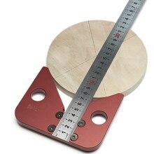 45 градусов угол круглый центр линия писец дерево правили плотник круглое сердце линейка Калибр Деревообработка DIY инструмент