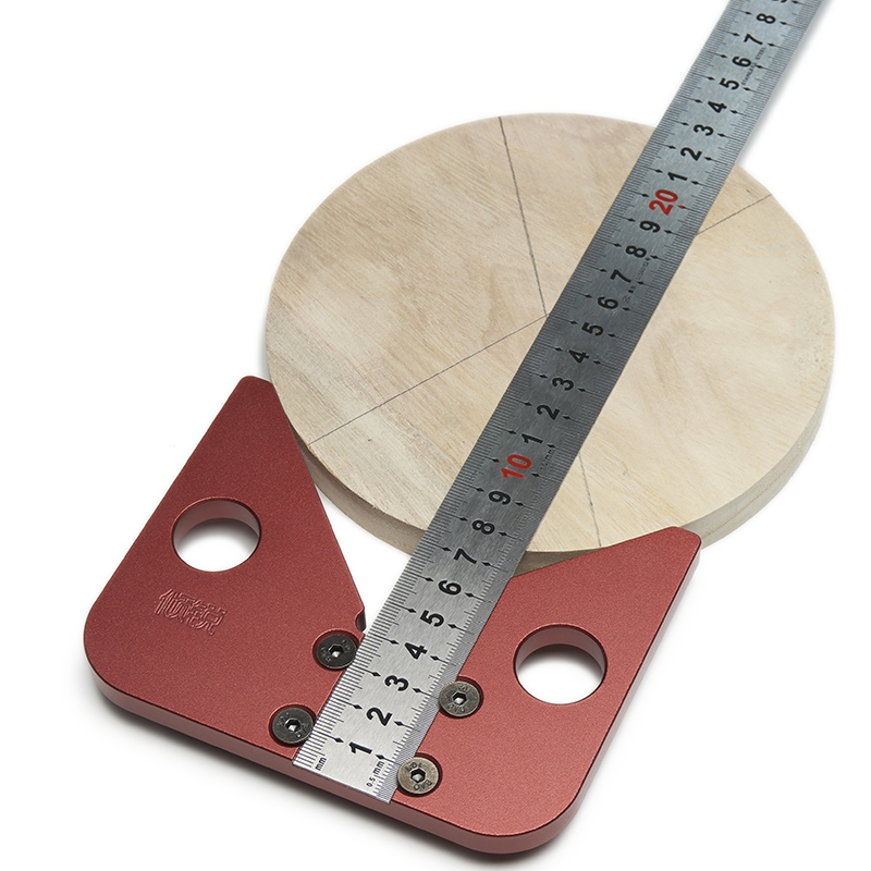 45 degree angle round center line scribe wood ruled carpenter round heart ruler layout gauge woodworking DIY tool