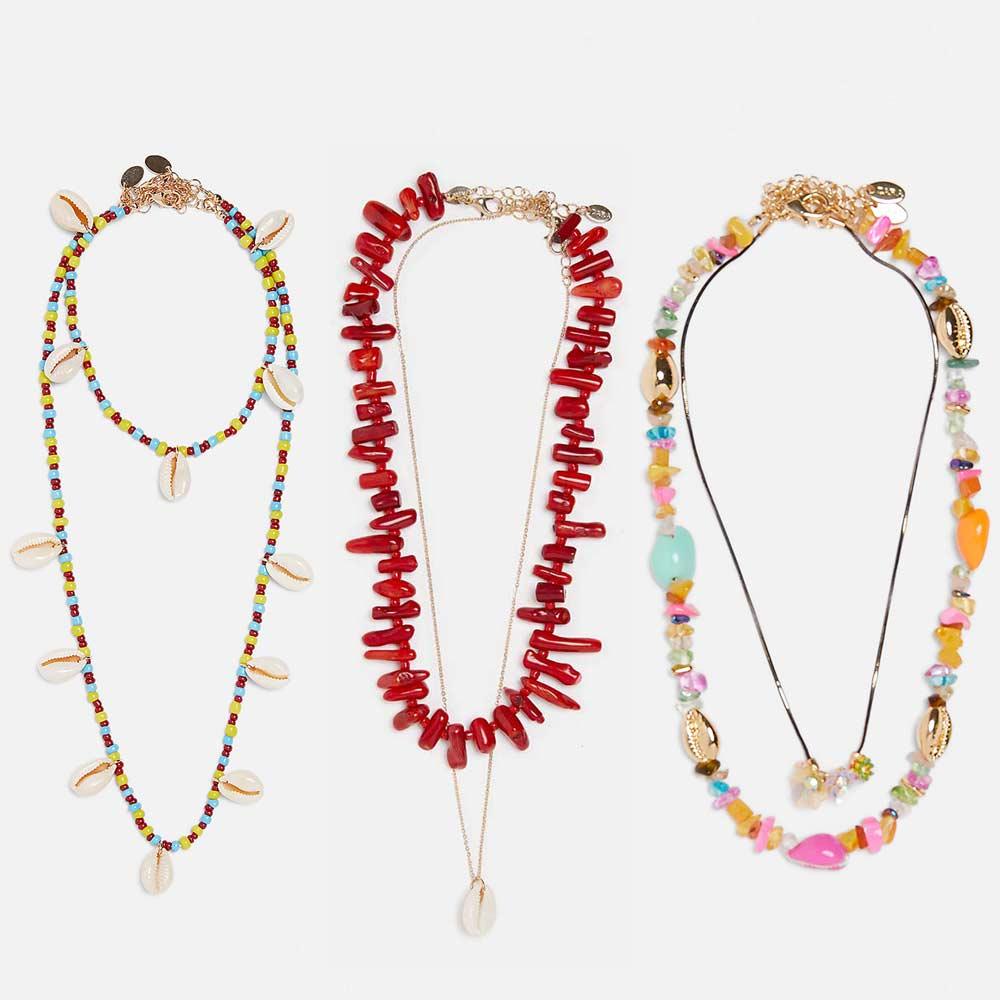 4960f7628f48 Dvacaman México verano colorido collar de perlas para mujeres de cadena de  piedra de declaración conjuntos de collar de moda 2019 gargantillas  colgantes INS
